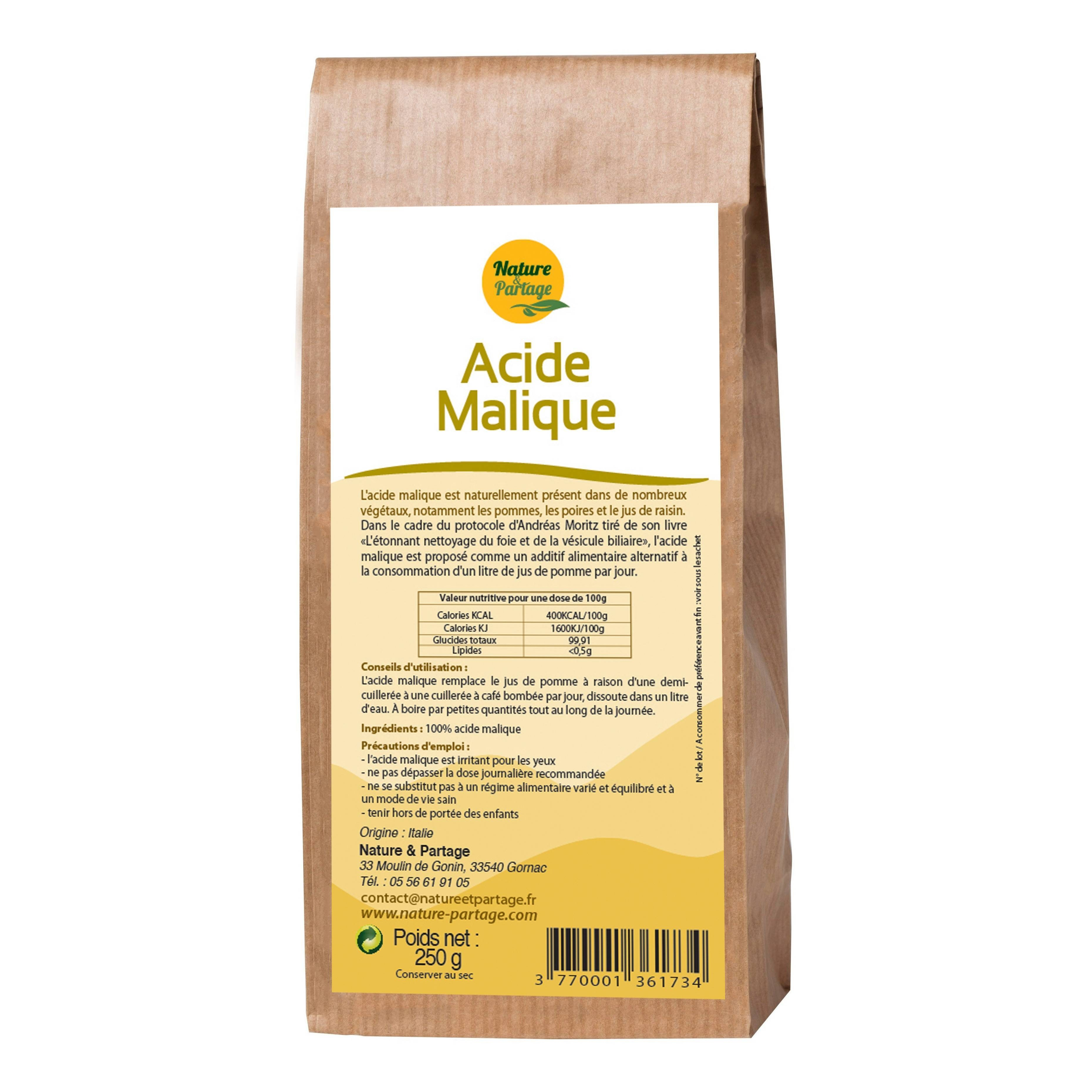 Ácido Málico 250 gramos