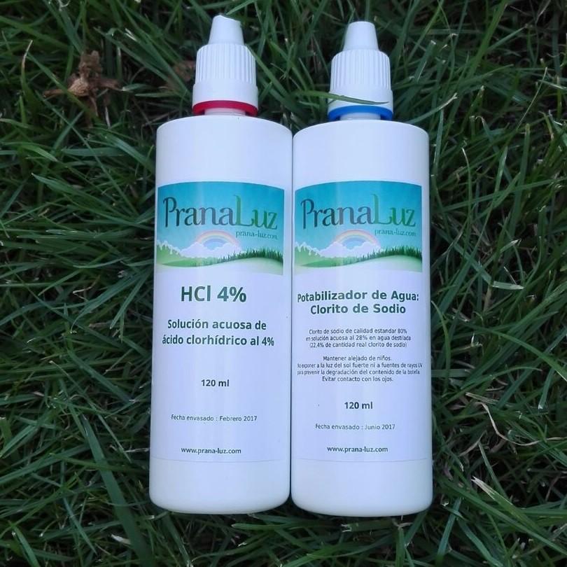 Potabilizador de Agua (Clorito de Sodio  +  Ácido Clorhídrico 4%)