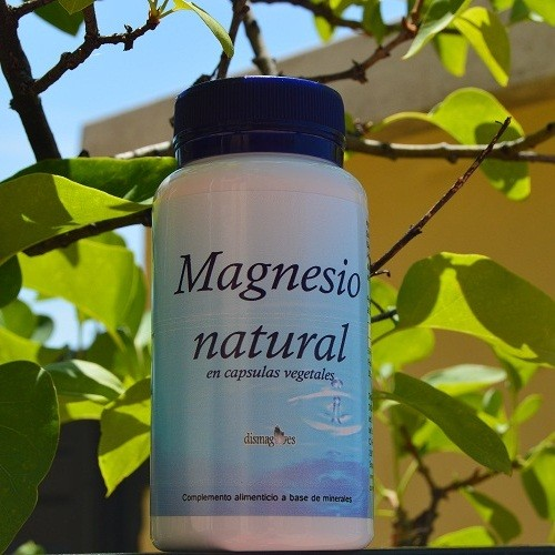 Magnesio natural en cápsulas vegetales